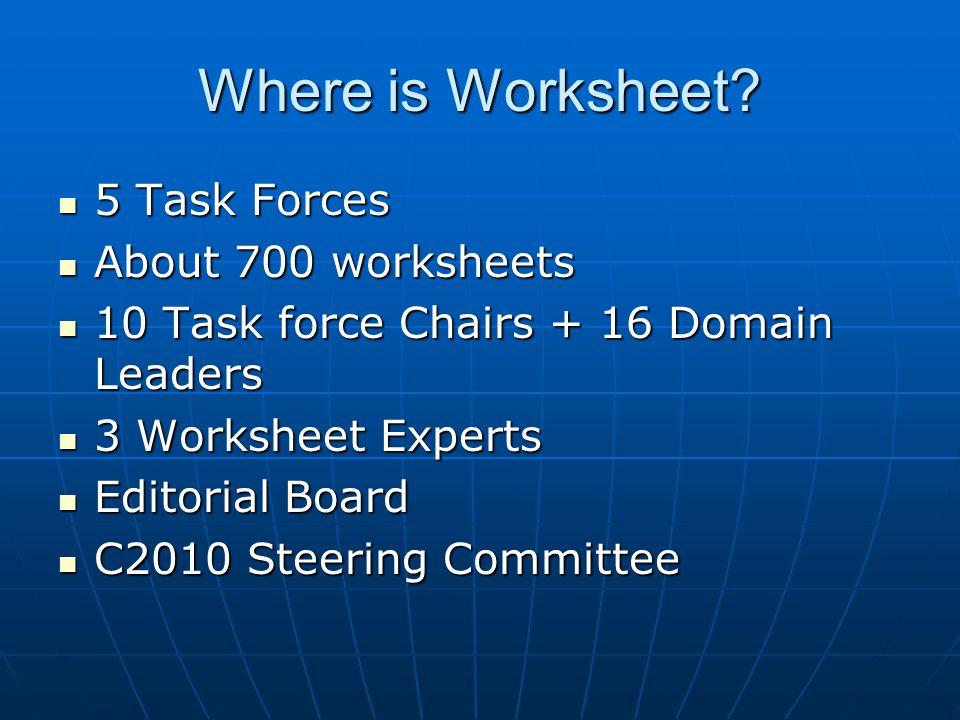 Where is Worksheet.