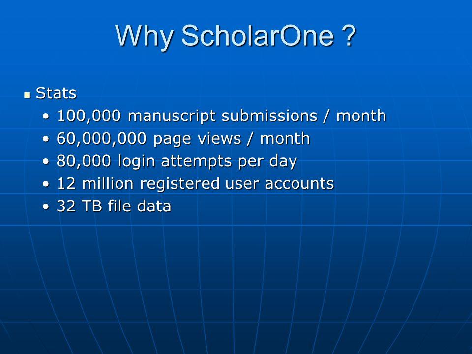 Why ScholarOne .