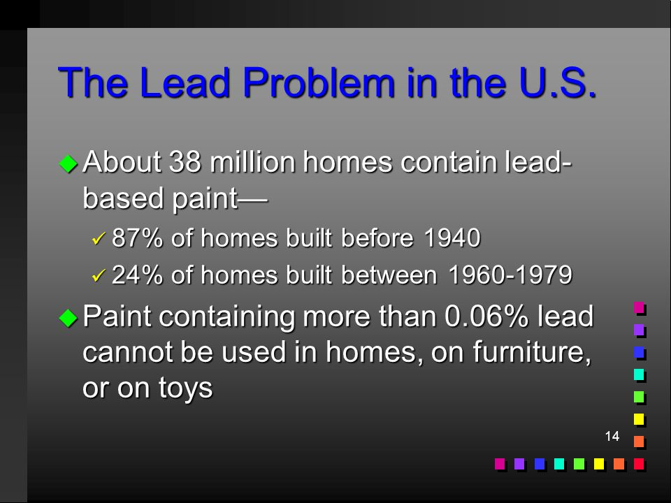 14 The Lead Problem in the U.S.