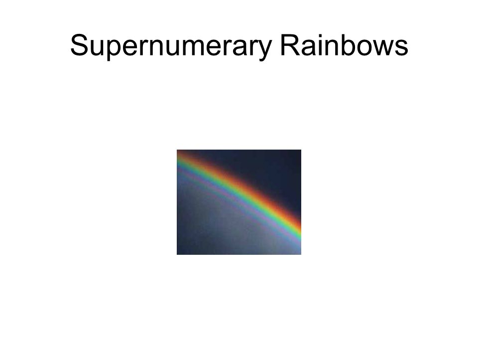 Supernumerary Rainbows