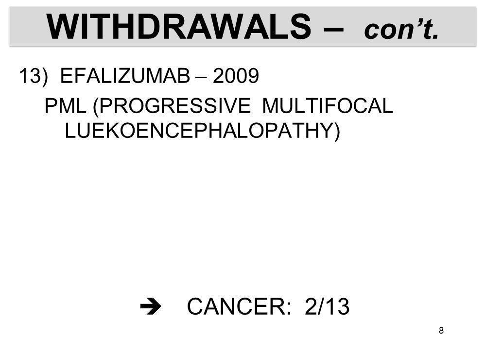 BLACK BOX METHOTREXATELYMPHOMA TACROLIMUSLYMPHOMA PIMECROLIMUS CLINICAL RELEVANCE – SUB JUDICE 9