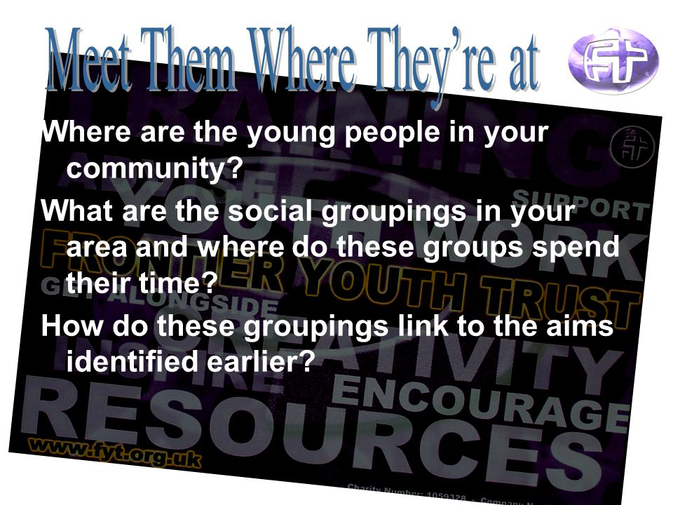 Where are the young people in your community.