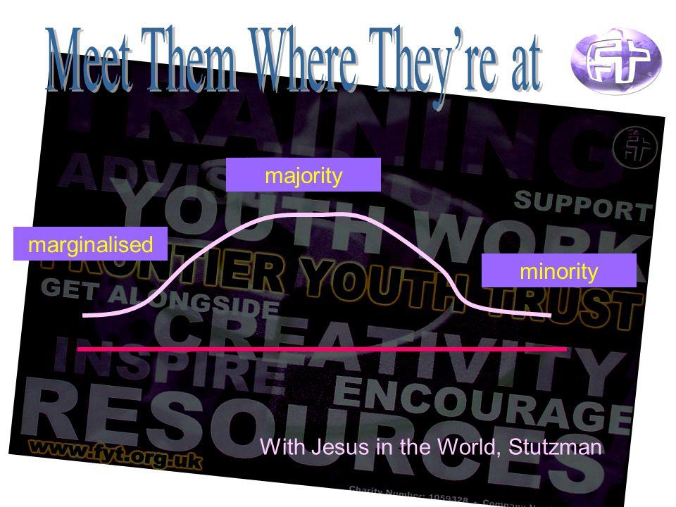 marginalised majority minority With Jesus in the World, Stutzman