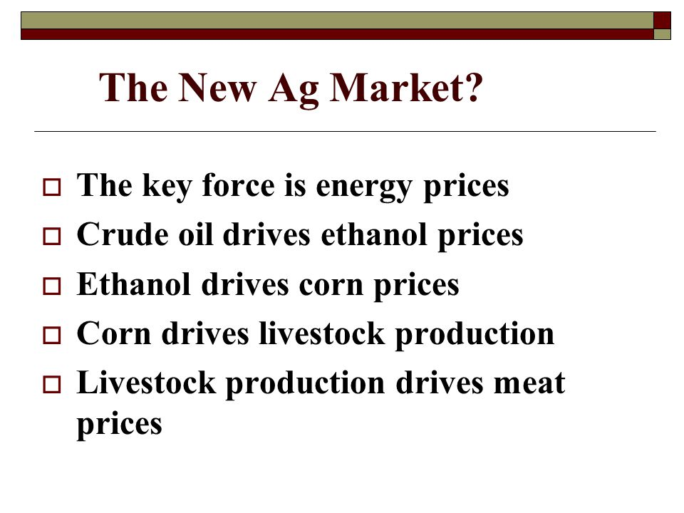 The New Ag Market.