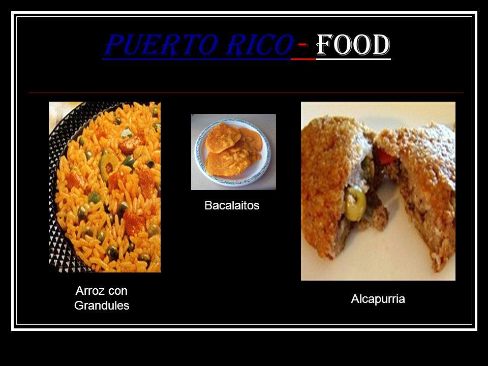 Puerto Rico - Food Arroz con Grandules Bacalaitos Alcapurria