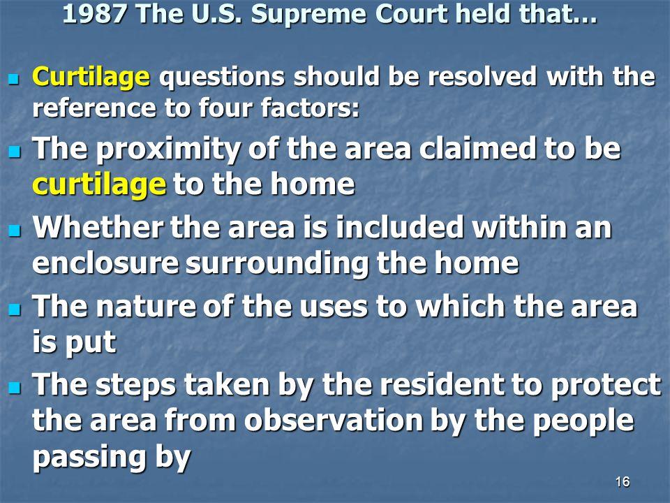 16 1987 The U.S.