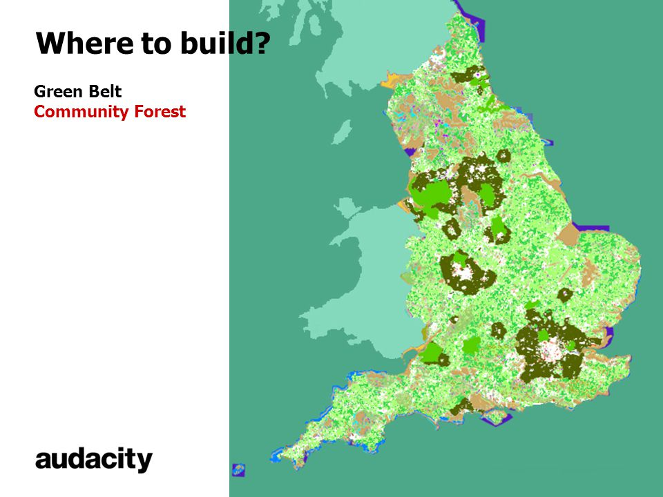 Where to build? Green Belt Community Forest