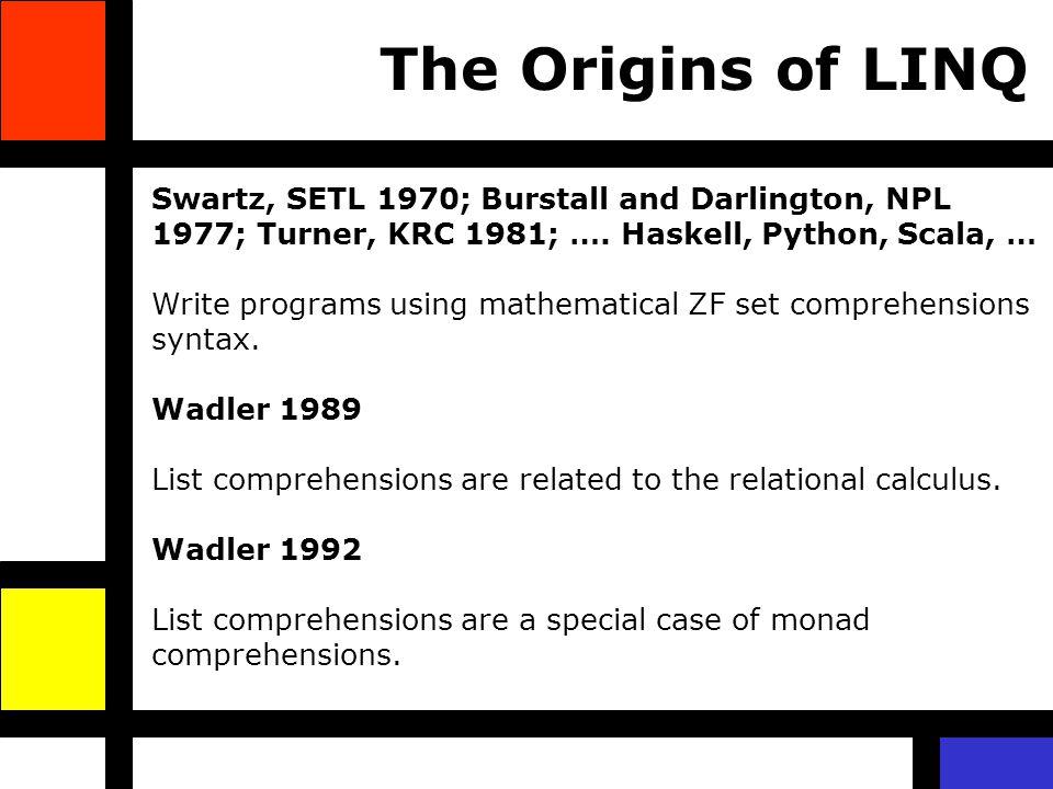Swartz, SETL 1970; Burstall and Darlington, NPL 1977; Turner, KRC 1981; ….