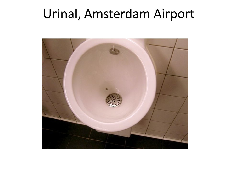 Urinal, Amsterdam Airport