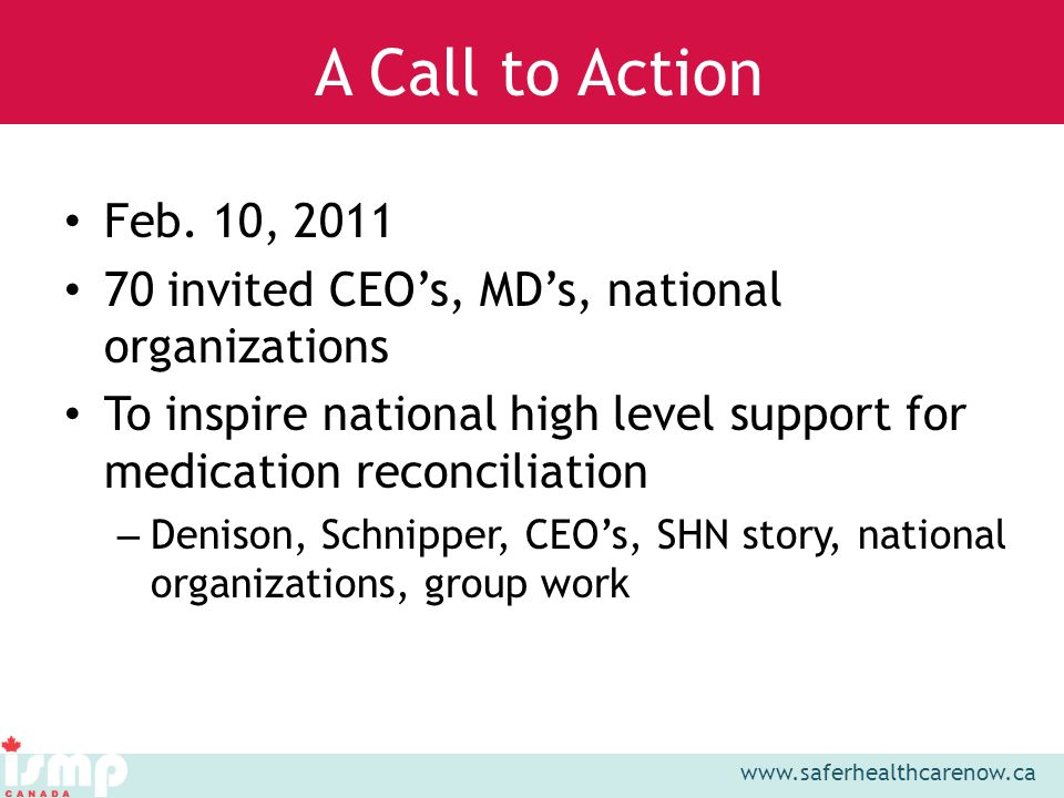 www.saferhealthcarenow.ca Feb.