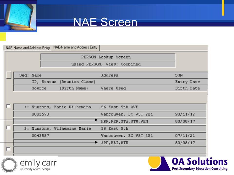NAE Screen