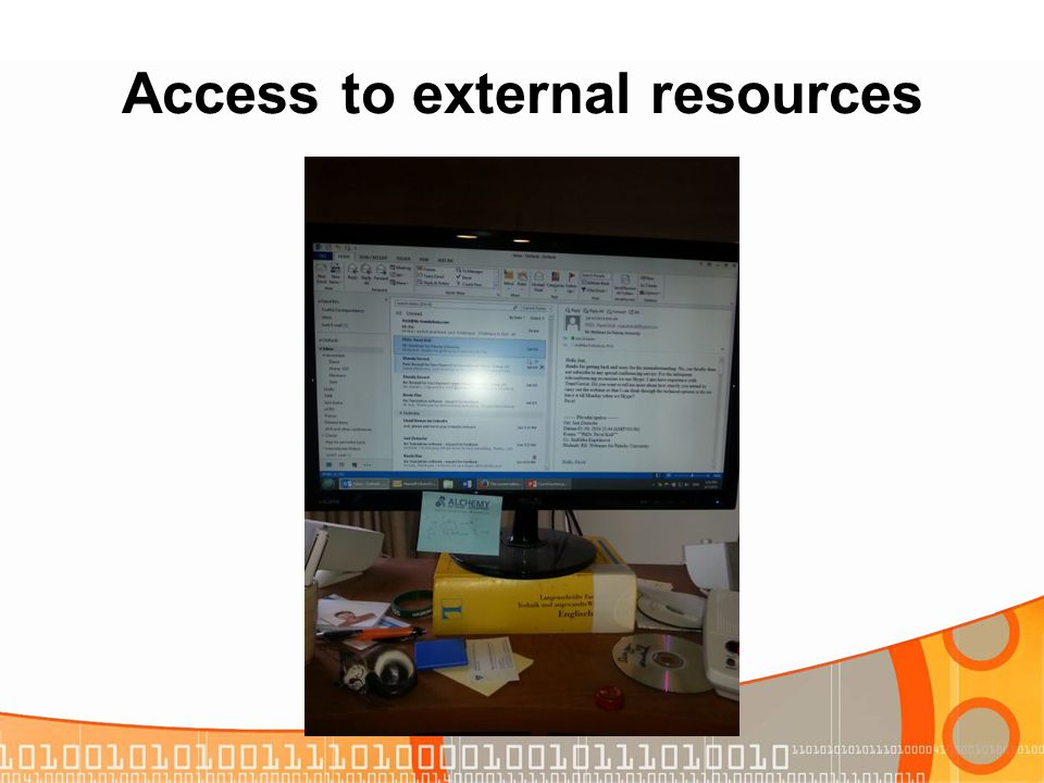 Access to external resources