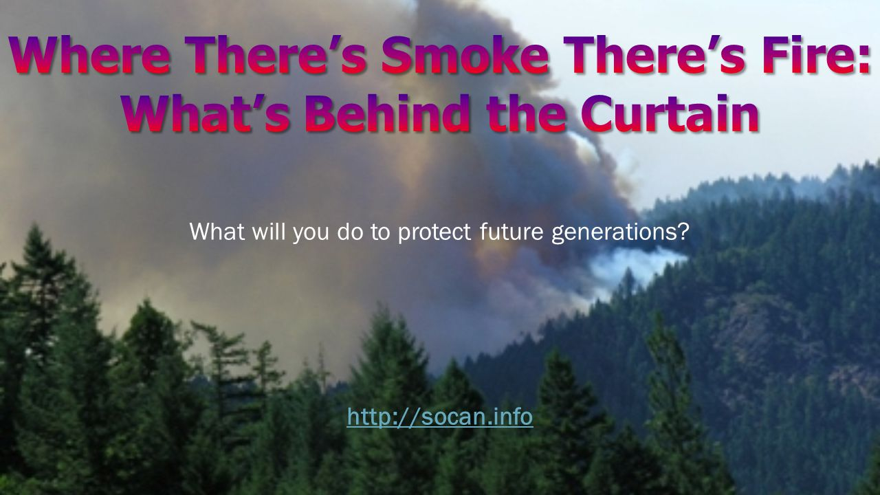 What will you do to protect future generations http://socan.info