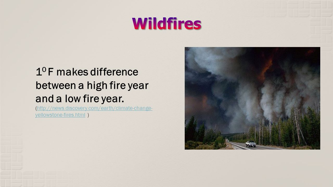 1 0 F makes difference between a high fire year and a low fire year.
