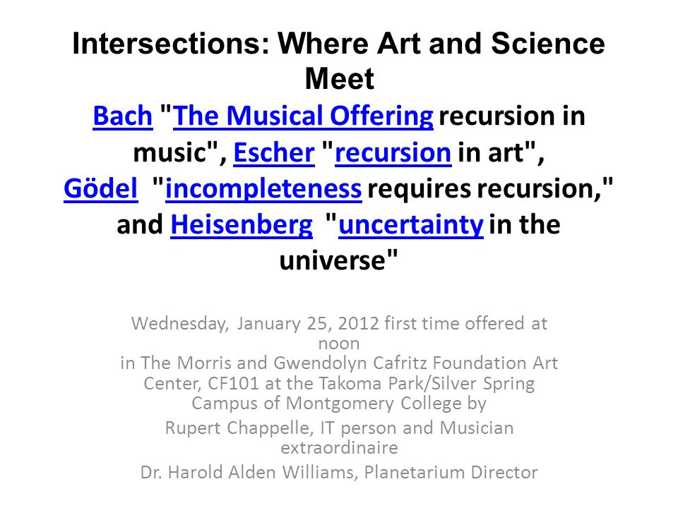 Intersections: Where Art and Science Meet Bach