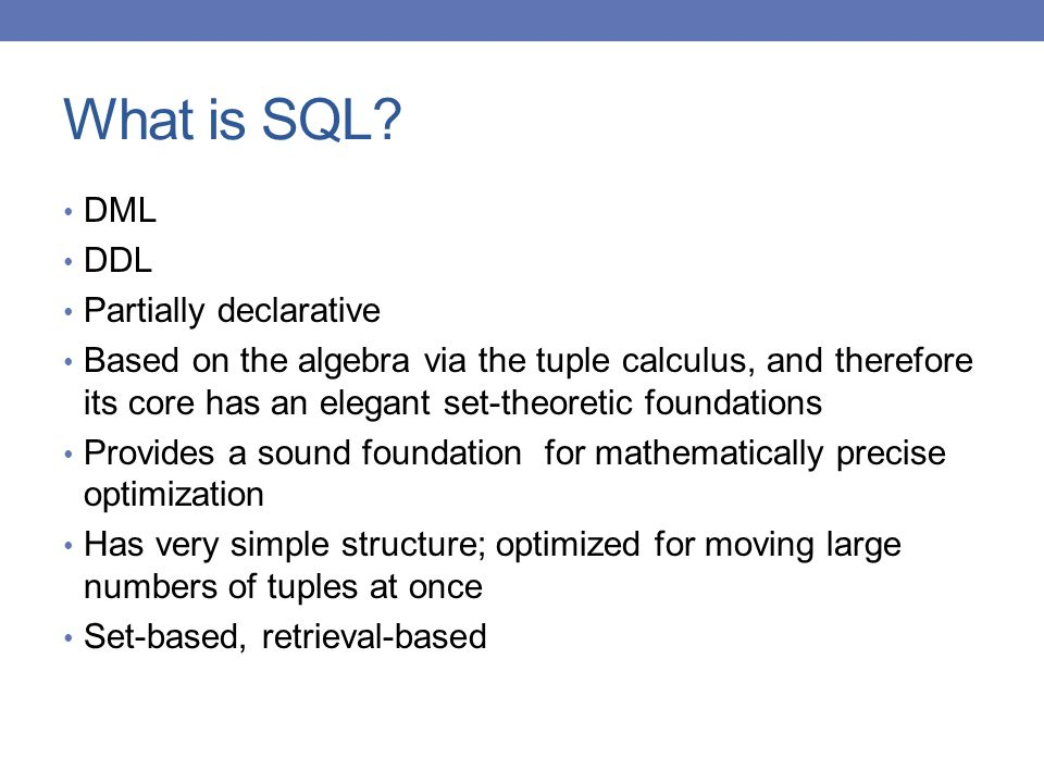 What is SQL.
