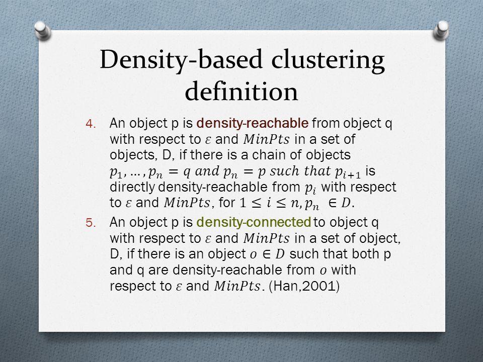 Density-based clustering definition