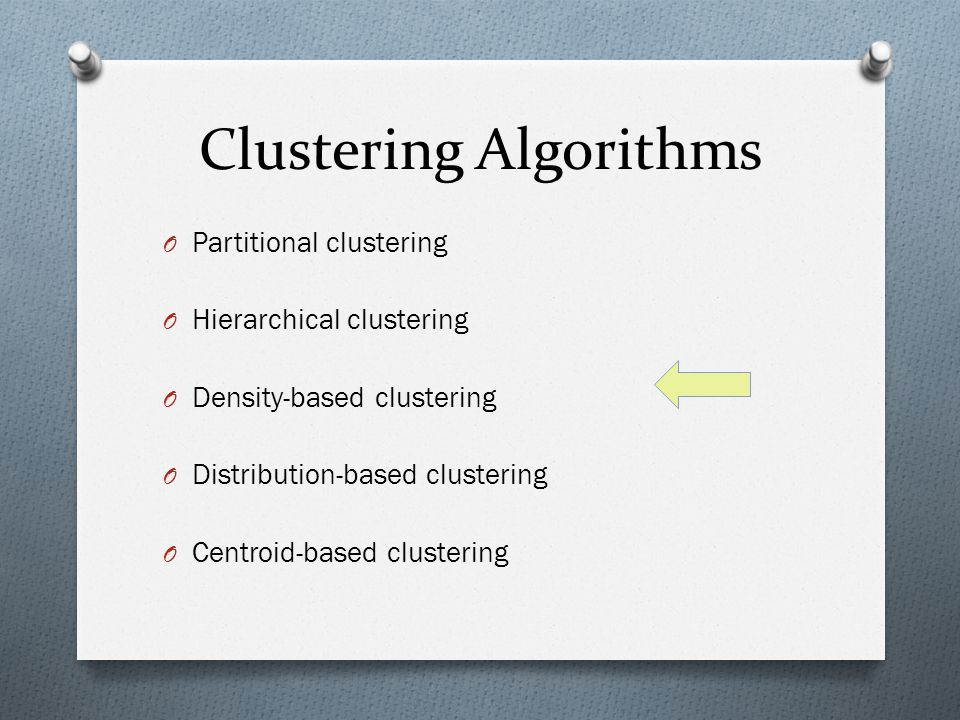 Clustering Algorithms O Partitional clustering O Hierarchical clustering O Density-based clustering O Distribution-based clustering O Centroid-based c