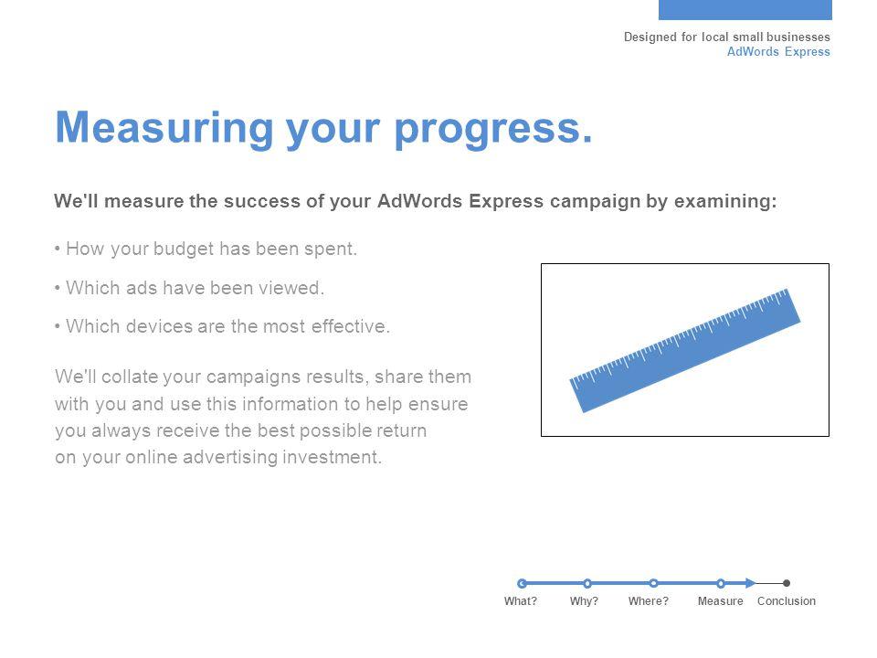 Measuring your progress.