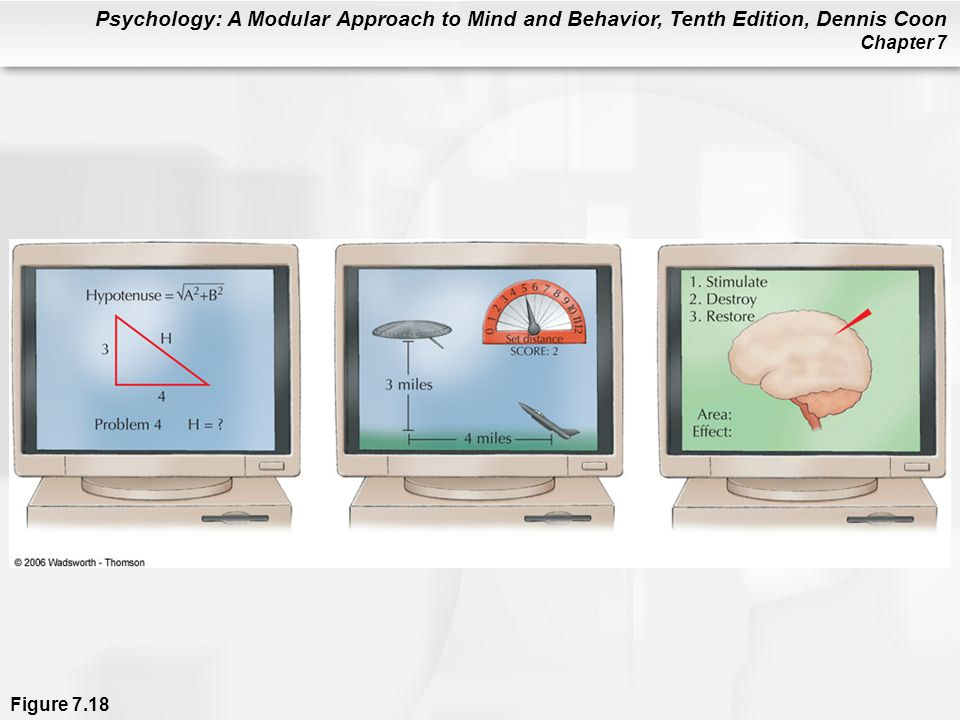 Psychology: A Modular Approach to Mind and Behavior, Tenth Edition, Dennis Coon Chapter 7 Figure 7.18