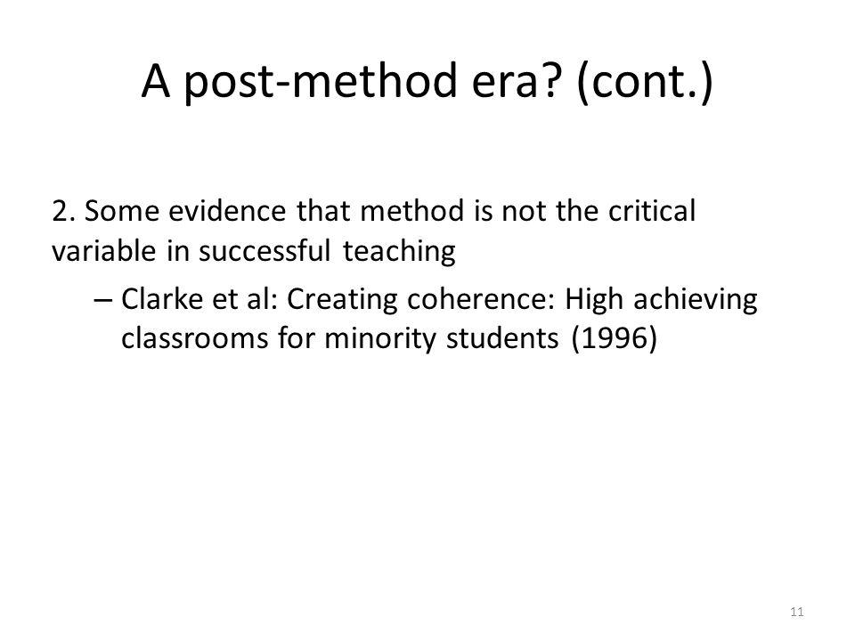 A post-method era.(cont.) 2.