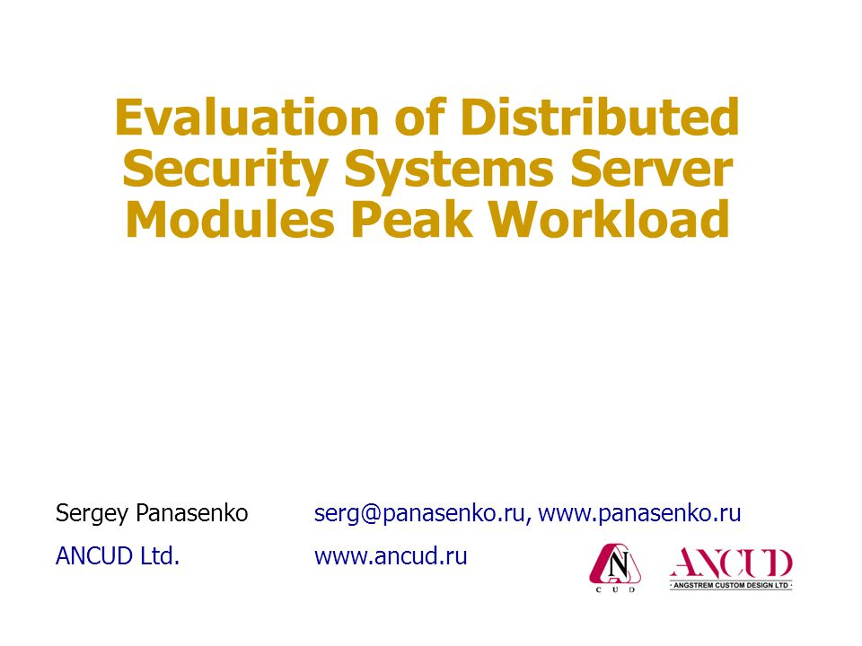 Peak workload of multi-purpose distributed systems 12 Average server workload for all types of operations during the same time period : Average server workload for all types of operations during the same time period T :