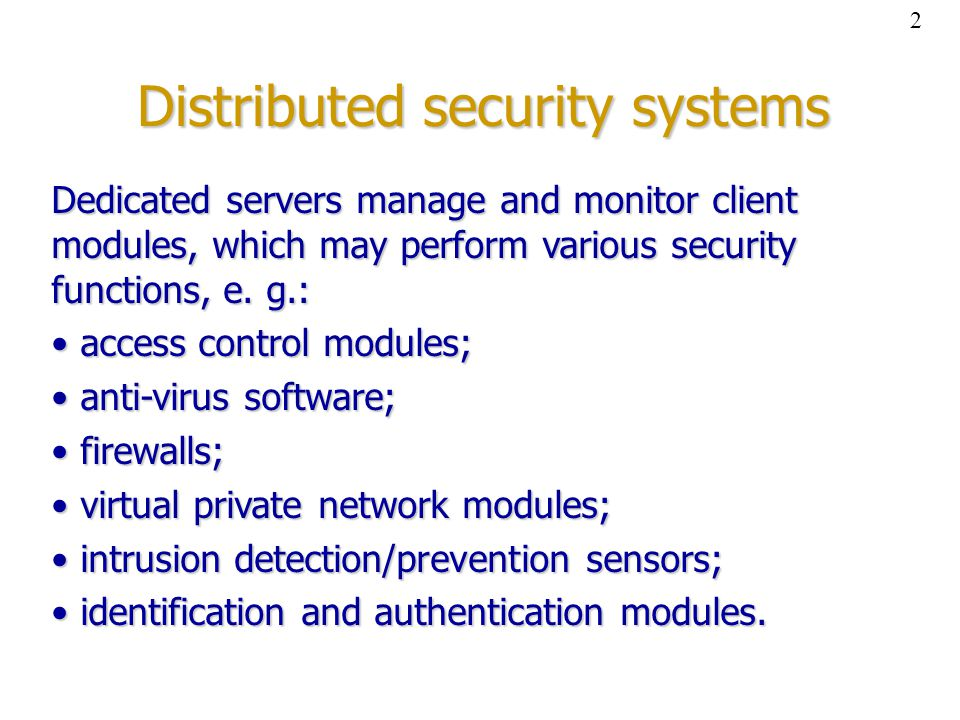 Example #1: distributed access control system 3