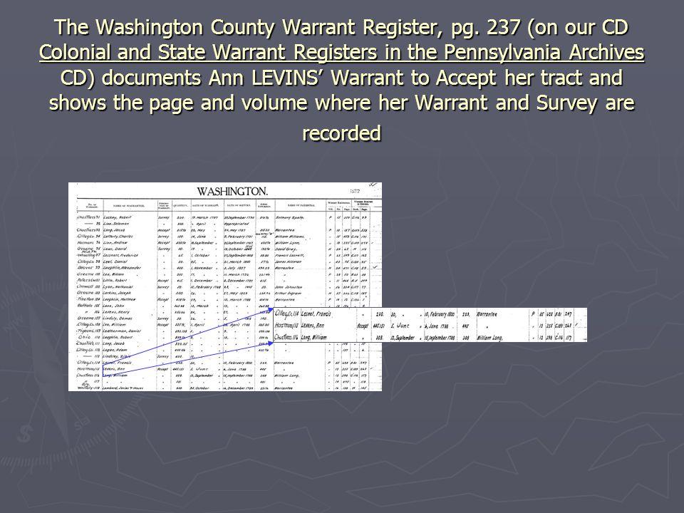 The Washington County Warrant Register, pg.