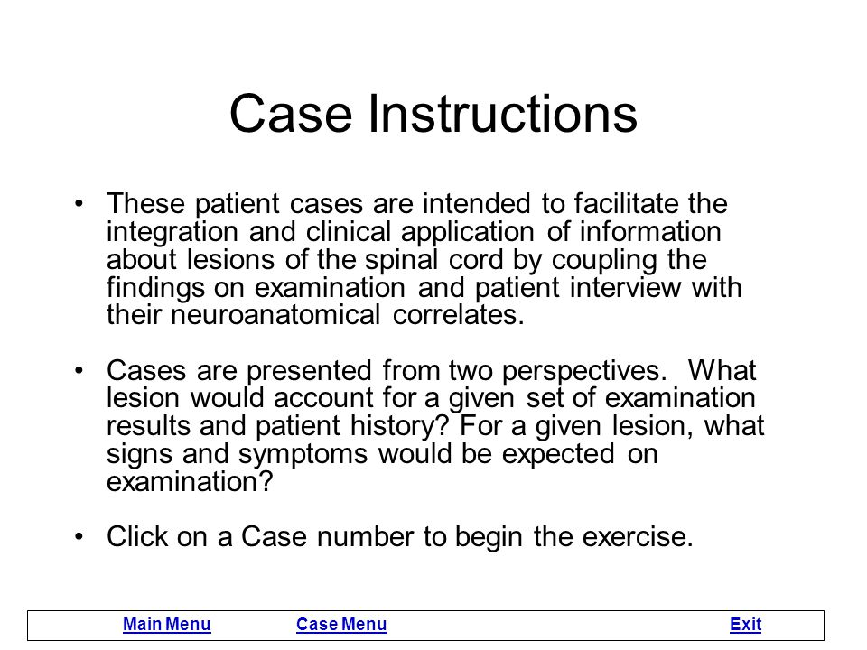 Case-based Practice Read these instructions.