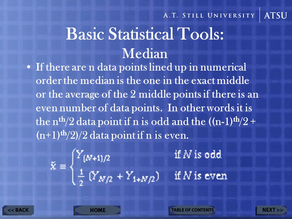 –Line up all of the data points in increasing order.
