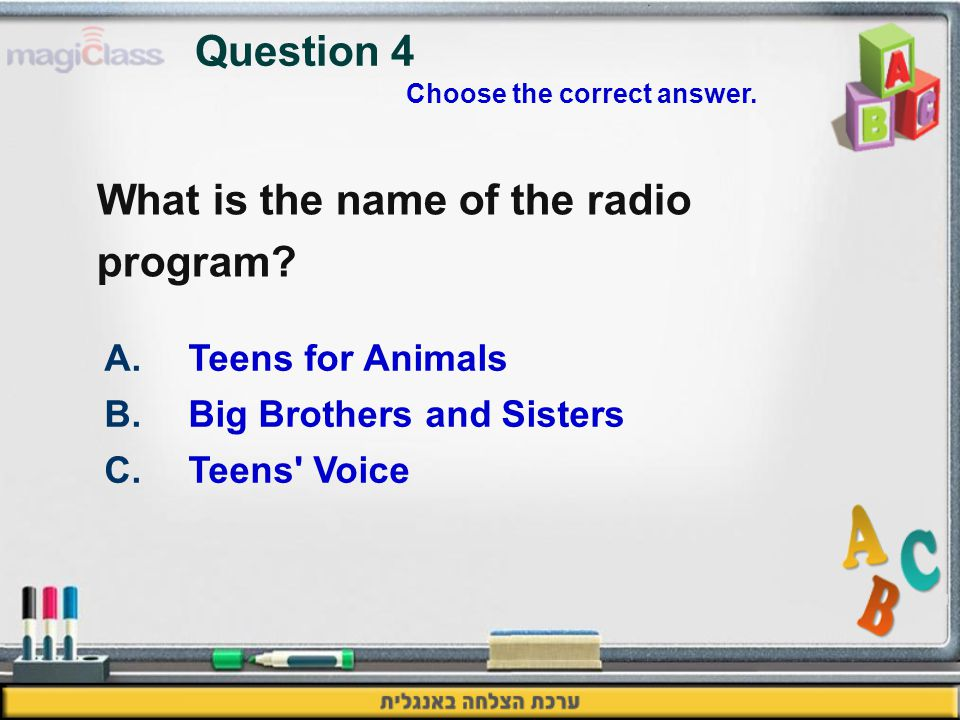 What is the name of the radio program.