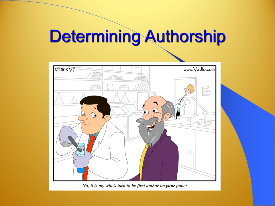 Determining Authorship