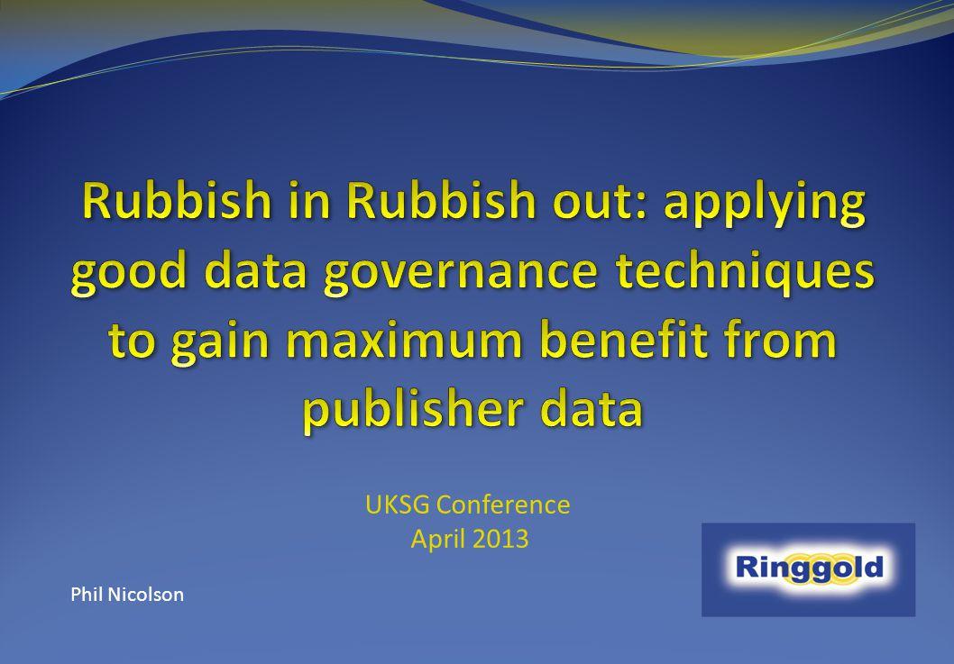 UKSG Conference April 2013 Phil Nicolson