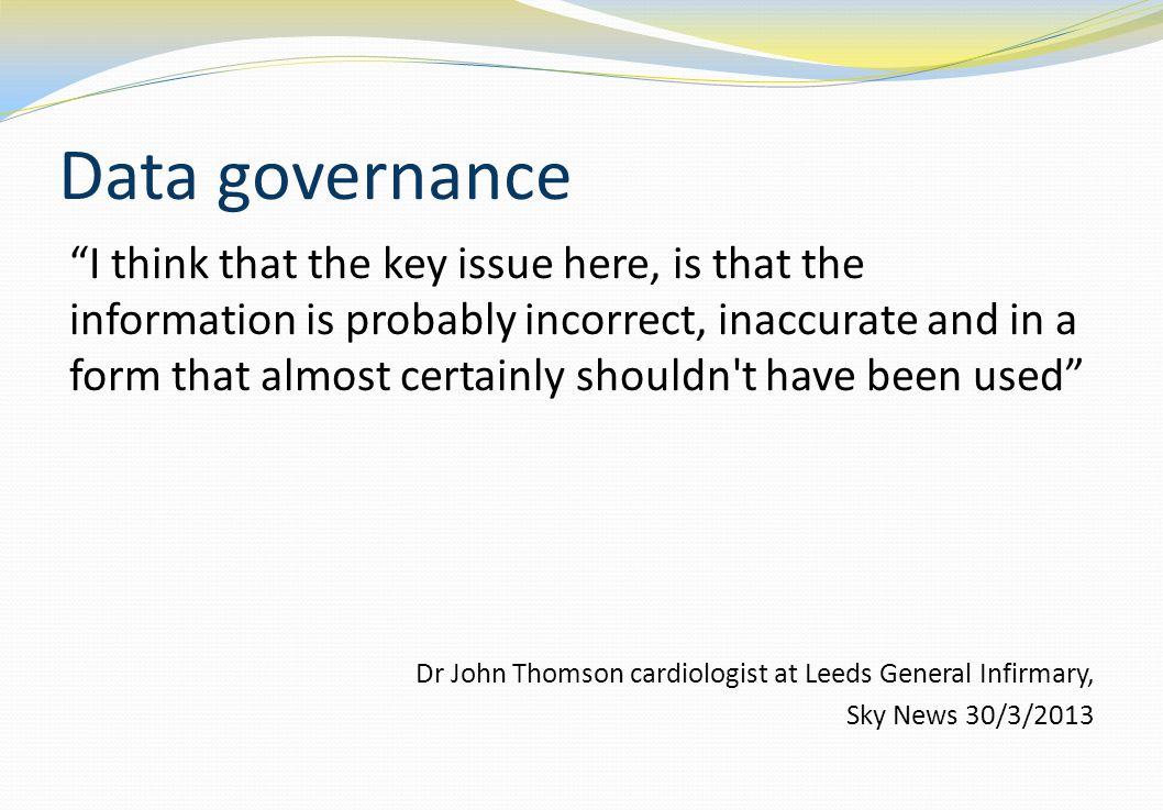 Data Governance – a definition