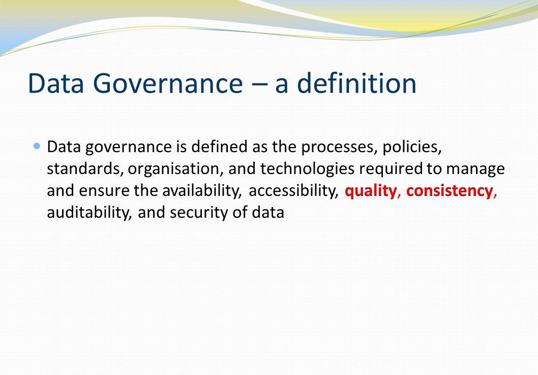 Data governance programme