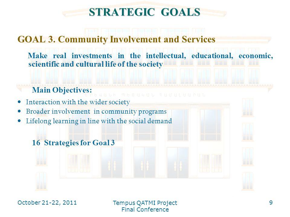 STRATEGIC GOALS GOAL 3.