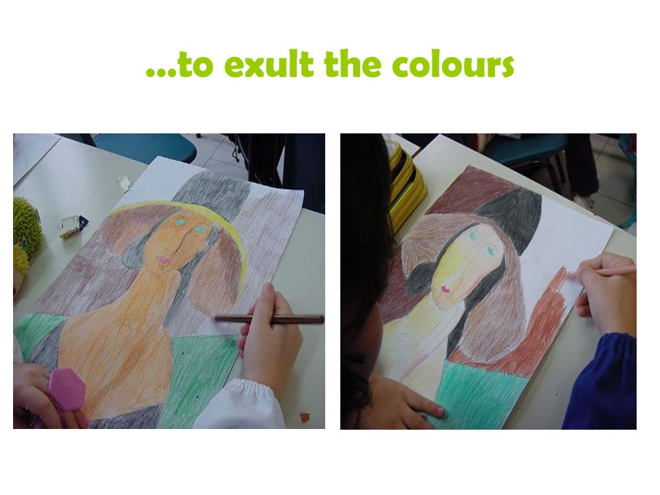 …to exult the colours