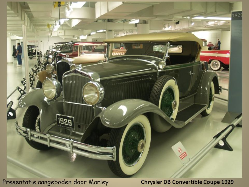 Chrysler DB Convertible Coupe 1929 Presentatie aangeboden door Marley