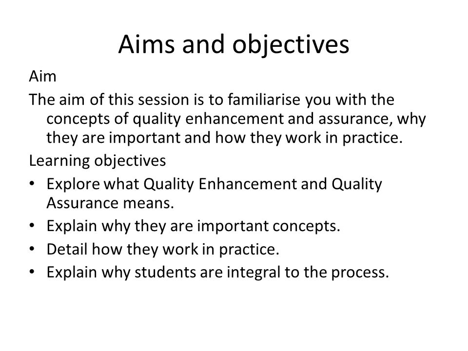 Aeroplane Analogy This short analogy can be used as a short speech to introduce some of the basic concepts to students about quality in education.