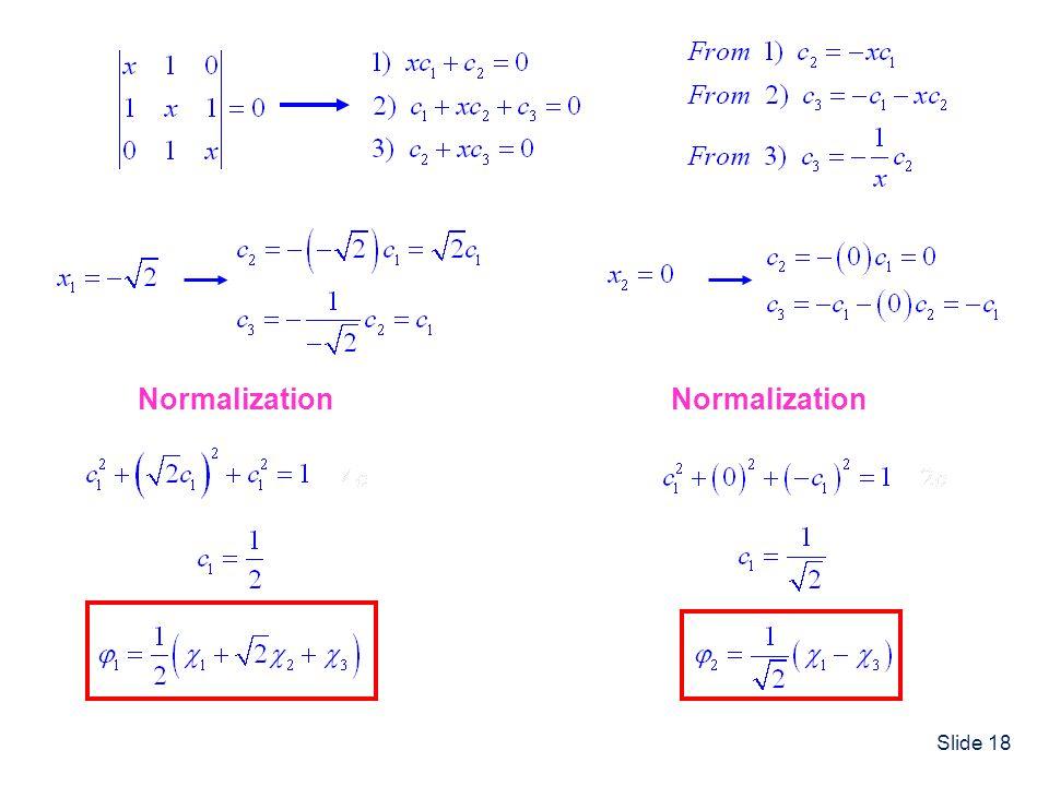 Slide 18 Normalization