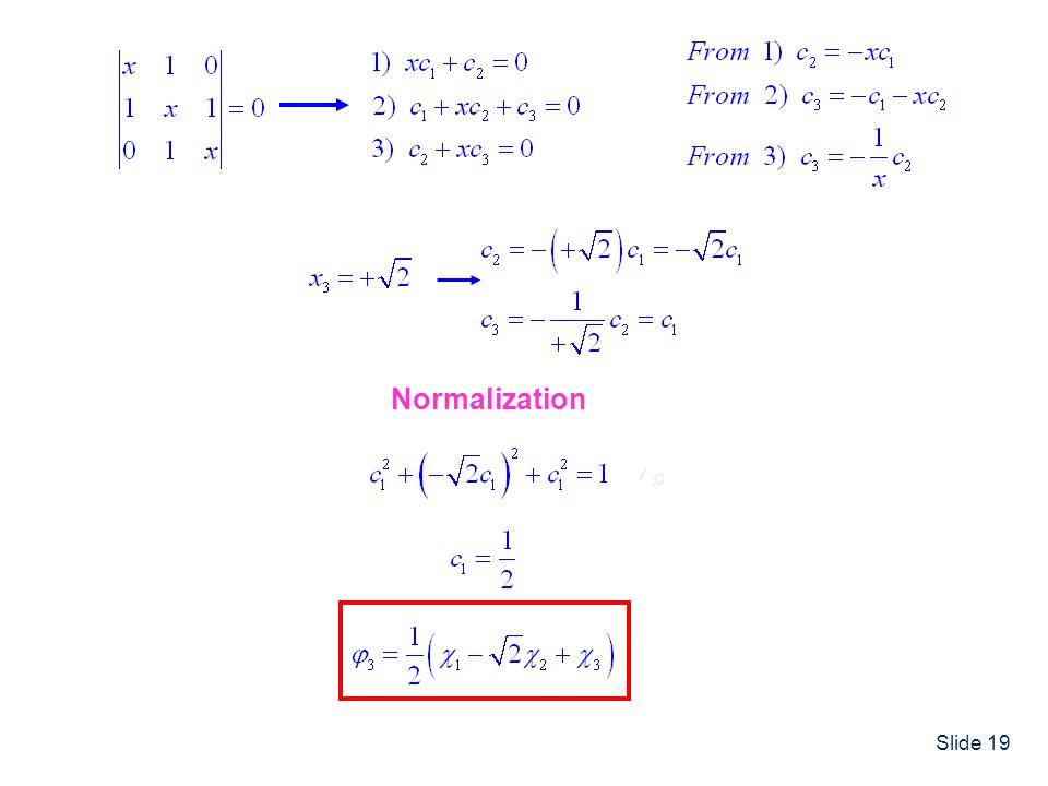 Slide 19 Normalization
