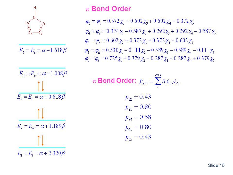 Slide 45 Bond Order Bond Order: