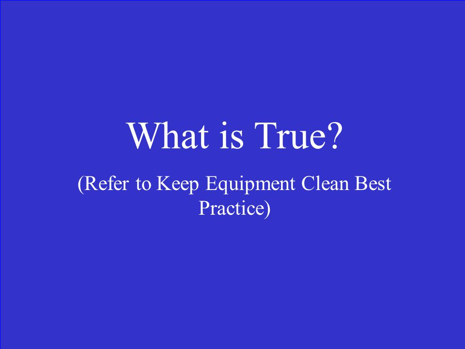 True or False Hand cleaning is an effective form of removing plant parts and seeds