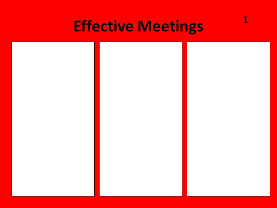 Effective Meetings 1 CONTENT PROCESS CONTEXT