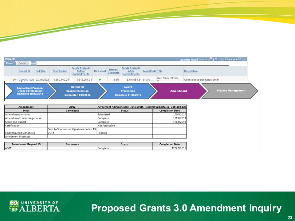 23 Proposed Grants 3.0 Amendment Inquiry