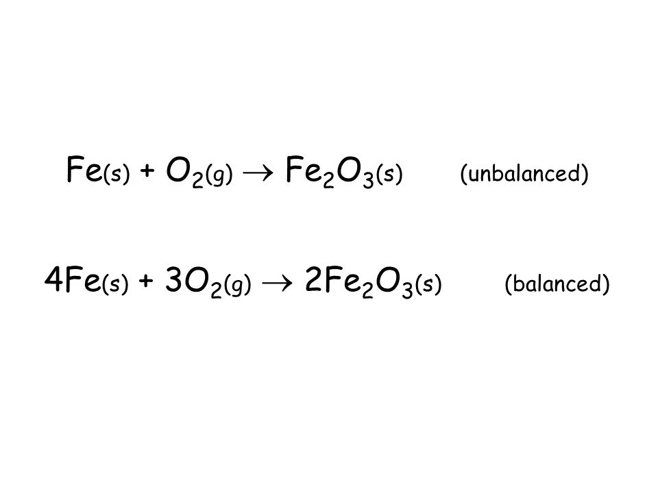 Balancing Equations NOTE: When balancing equations, you may change coefficients as much as you need to, but you may never change subscripts because yo