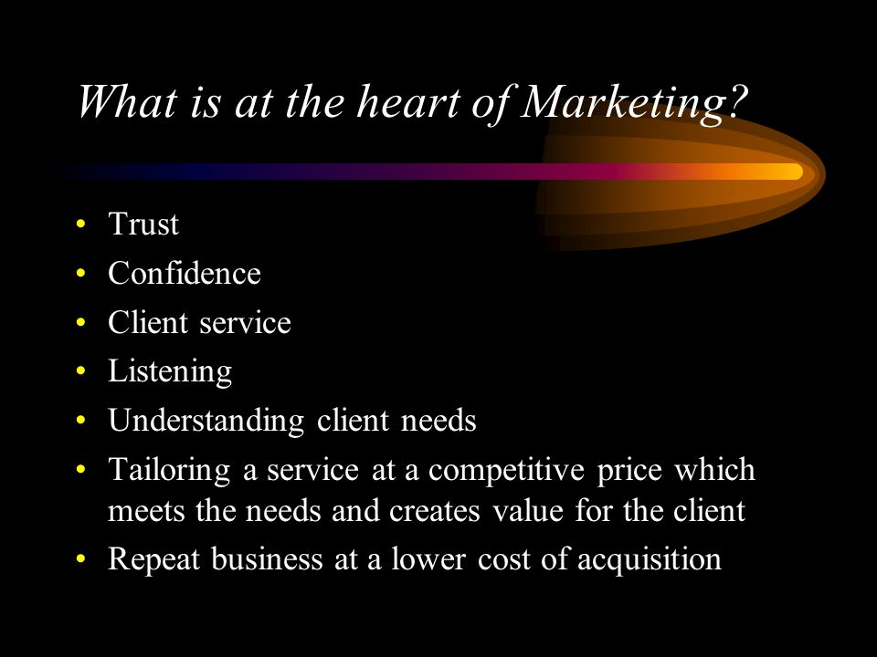 What is at the heart of Marketing.