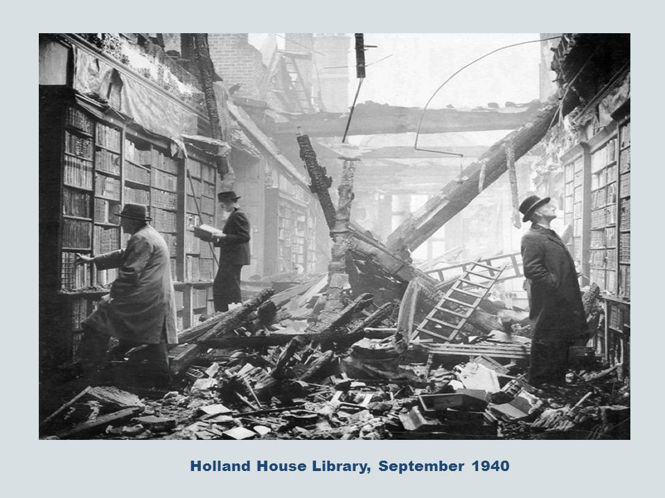 Holland House Library, September 1940