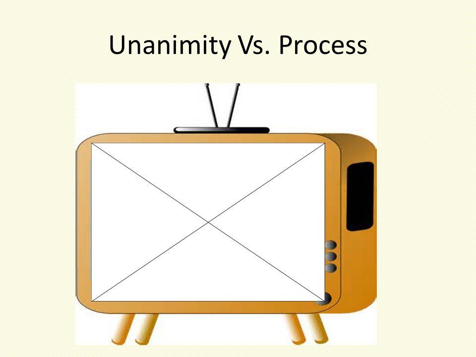 Unanimity Vs. Process
