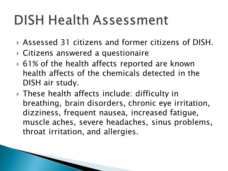 Assessed 31 citizens and former citizens of DISH.